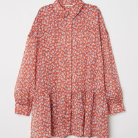 Chiffon blouse - Orange/Floral - Ladies | H&M GB