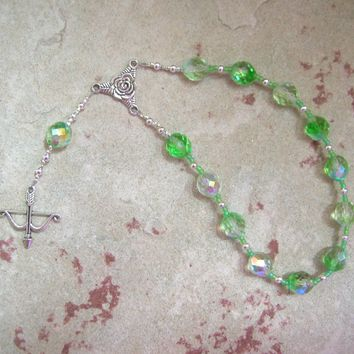 Artemis Pocket Prayer Beads: Greek Goddess of  the Wild, Protector of Young Women
