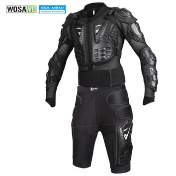 WOSAWE Extreme Sports Motorcycle Racing Jakcet Motocross Full Body Armor Jacket Spine Chest Protective Gear Protector