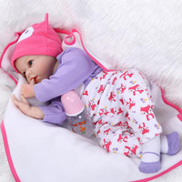 55CM Silicone reborn baby doll toys for girl lifelike reborn babies play house toy birthday gift girl brinquedos bonecas