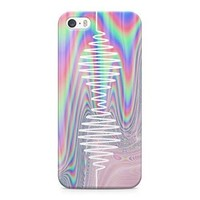 Arctic Monkeys Trippy Holographic Wave Logo Hard Plastic Snap-On Case Cover For iPhone 5 and iPhone 5s