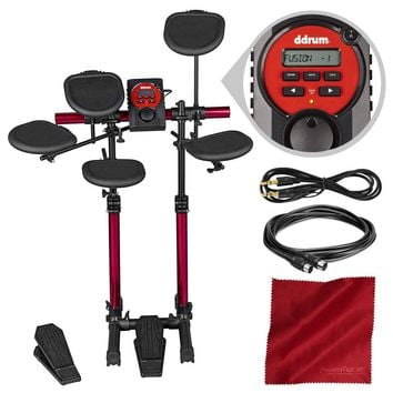 Ddrum DDBeta D-Lite Compact Size Electronic Drum Set with Accessory Bundle
