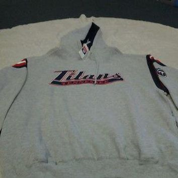 TENNESSEE TITANS RETRO LEE SPORT HOODED SWEATSHIRT LARGE