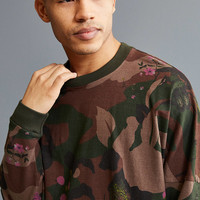 UO Printed Drop Shoulder Long Sleeve Tee | Urban Outfitters