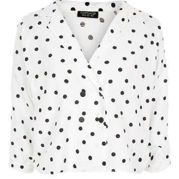 Spot Print Button Down Top - New In Fashion - New In