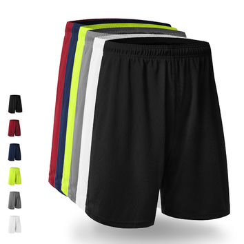 Mens Running Shorts Quick Dry Polyester Loose Basketball Football Short Man Fitness Gym Training Sport Shorts Plus Size M22