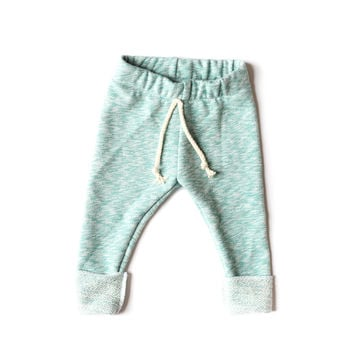 Terry Sweats Teal Marble