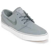 Nike SB Zoom Stefan Janoski Cool Grey Leather Skate Shoes