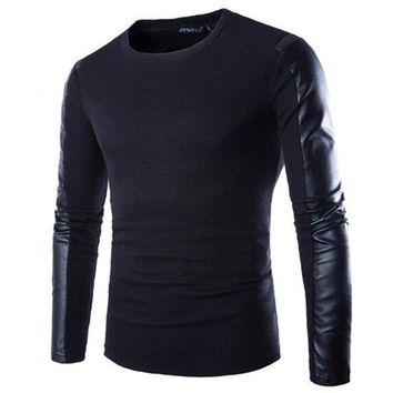 New Fitness Men Long Leather Sleeve Ourdoor Running Sports T Shirt Men Thermal Muscle Bodybuilding Gym Compression Tight Shirt