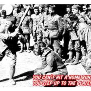 Step up to the plate!: Fine art canvas print (12 x 18)