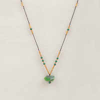 Gold Bead & Chrysoprase Necklace