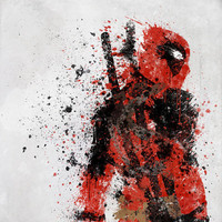 Deadpool Stretched Canvas by Melissa Smith | Society6