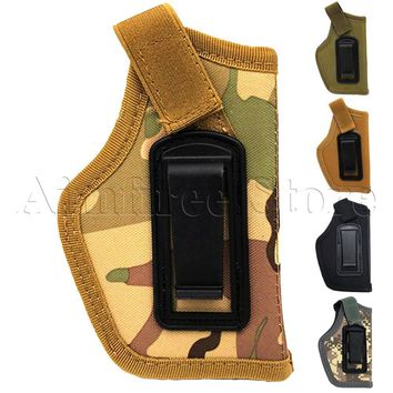 Tactical Gun Concealed Carry IWB Holster Adjustable Right Left Hand Small Pistol Gun Holster For S&W M&P Shield GLOCK