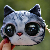 Plush Cute Kitten Purse Female Fashion Personality Loose Change Coin Wallet