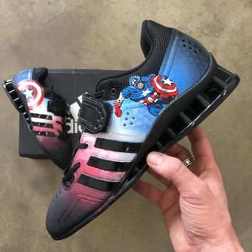 Captain America Adidas Adipower Lifters