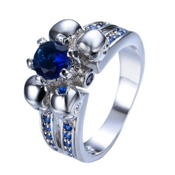 Nightmare - Royalty Sapphire Ring - Silver