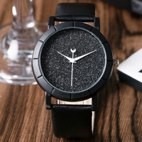 Chic Moon Hands Blooming Glitter Dial Analog Watch