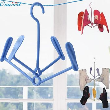 Hot sale Fashion Heaven 21*23cm Plastic Shoe Clothes Socks Shorts Underwear Drying Rack Hanger New Free Shipping 2017 s20