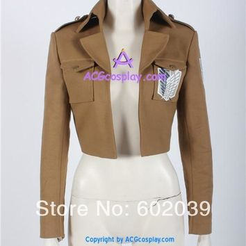 Cool Attack on Titan  Levi Rivaille captain levi Cosplay Costume Jacket only AT_90_11