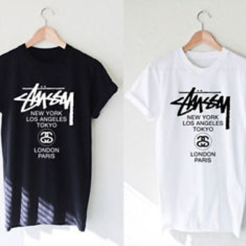 Stussy Shirt Stussy World Tour T-Shirt Unisex Clothing Size S,M,L,XL #1