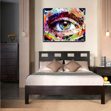 Eye Canvas Art, Eyeball Canvas, Eye Original painting