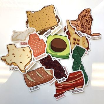 Foodnited States Sticker Four-Pack