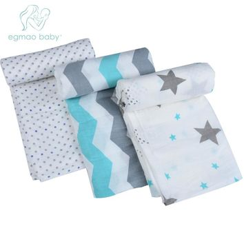 One pack Muslin Baby Swaddling Blanket Newborn Infant 100% Cotton Swaddle Bamboo Towel Random Delivery Baby Swaddle Wrap