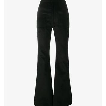 Flared Velvet Trousers - VETEMENTS