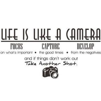 Life Is Like A Camera Wall Decal - PFDECALA