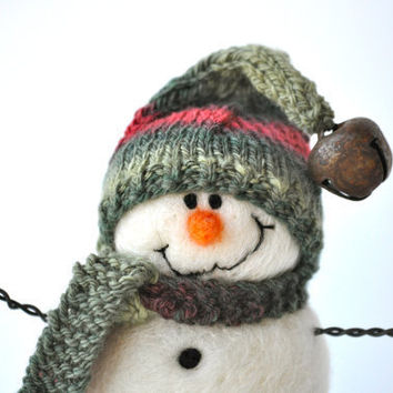 Snowman Needle Felted Christmas Snowmen 41 by BearCreekDesign