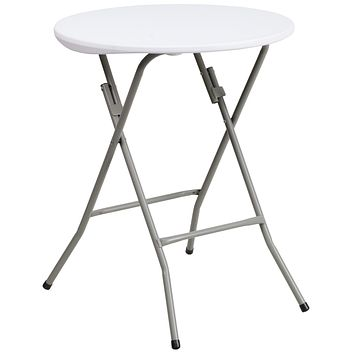 24'' Round Granite Plastic Folding Table