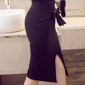 Mia Bow Pencil Skirt