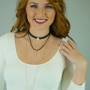 Pauline Layered Choker Pearl Necklace