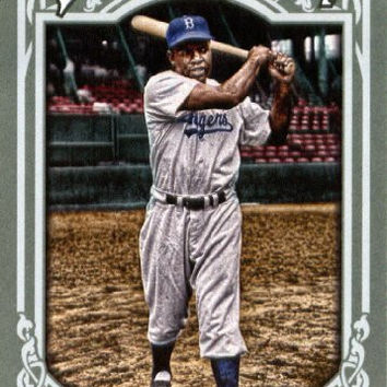 Jackie Robinson Gypsy Queen Baseball Series Mint Card #260 Picturing This Hall of Famer in His Gray Brooklyn Dodgers Uniform. Shipped in a Protective Screwdown Holder!