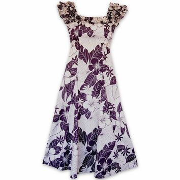 Haven Purple Leilani Hawaiian Muumuu Dress