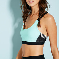 Medium Impact - Colorblocked Stripe Sports Bra