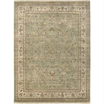 Throw Rug - Asparagus Green, Raw Umber, Elephant Gray, Russet, Safari Tan, Parchment, Slate Green, Dark Khaki, Mossy Gold, Caper Green