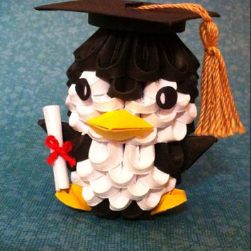 3d Origami Graduation Penguin From Thearrings On Etsy Epic