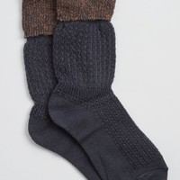Navy Extended Cuff Boot Socks