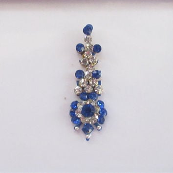 Blue passion Single Bindi In A Pack Studded With Rhinestones/ Indian India Bindis/ Bindi Headpiece/ Jewels/ Face Jewels/Long Bindi