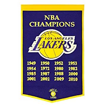 Los Angeles Lakers Banner 24x36 Wool Dynasty