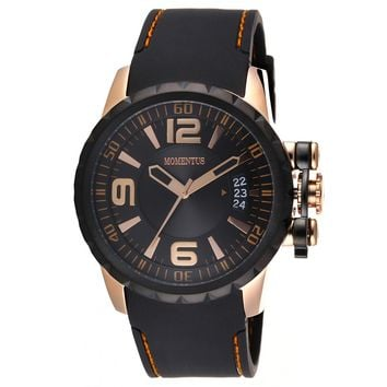 Momentus FS108R-04RB Men's Functional Sport Black Dial Quartz Black Rubber Strap Watch