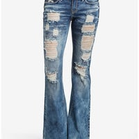 Destructed Flared Jeans