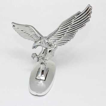 ICIKFS2 High Quality Vintage Universal 3D Eagle Car Logo Front Cover Bonnet Metal Hood S #LY880