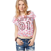 Floral Banded Boxy Tee