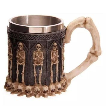 MDIGON1O 3D Skull Coffee Cup Mug [6433209220] Day First