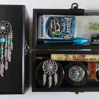 Dreamcatcher Herb Weed Tobacco Grinder Stash Box Set