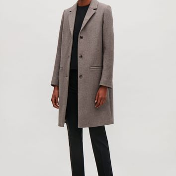 Tailored wool coat - Taupe - Coats & Jackets - COS US