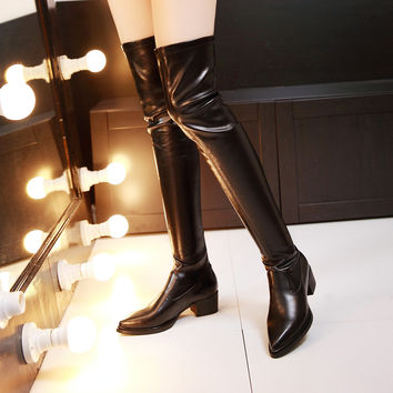 Pointed Toe Over the Boots Women Shoes New Arrival