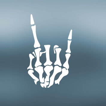 Skeleton Hand Decal   Rock On Decal   Peace Decal   Hard Rock Decal   Trucker Decal   Yeti Tumbler Cooler Decal   MacBook   389